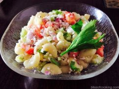 Macaroni & Coconut Salad, Healthy wholesome salad